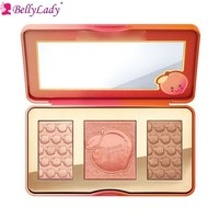 BellyLady 3 Colors In 1 Matte Eyeshadow Pallete Waterproof Shimmer Long-lasting Eyeshadow Blush Palette