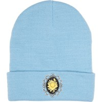 Blue cameo embellished beanie hat - hats - accessories - women