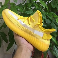 ADIDAS Yeezy 350 v2 Hot sale classic men's and women's casual shoes sneakers Yellow