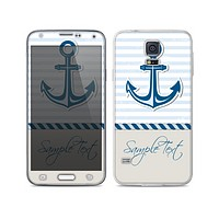 The Blue Highlighted Anchor with Rope Skin For the Samsung Galaxy S5