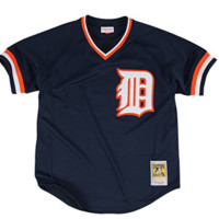 Mitchell & Ness Kirk Gibson Authentic Mesh BP Jersey Detroit Tigers In Navy