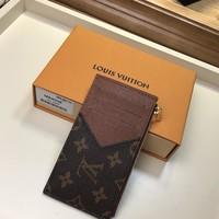 Kuyou Lv Louis Vuitton Gb19710 M64038 Brown Lv Taiga Leather Coin Wallet
