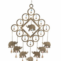 Benzara Elite Metal Elephant Windchime Home Interiors