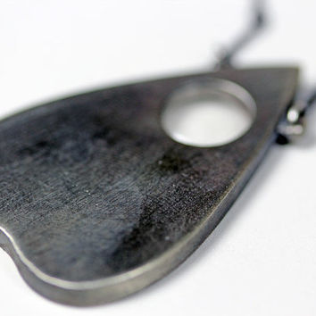 mini planchette oracle necklace by BloodMilk on Etsy