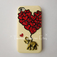 Original Love Elephant Crystal Bling Bling Phone Case