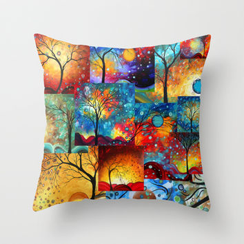 Circle of Life Collection Bold Colorful Landscape Art by Megan Duncanson Throw Pillow by Megan Aroon Duncanson ~ MADART