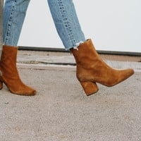 Free People: Cecile Ankle Suede Bootie
