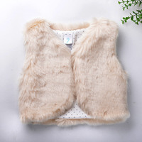 2017 autumn winter Baby sleeveless faux fur vest baby girl winter waistcoat fur vest for baby clothing