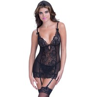 Cute On Sale Hot Deal Sexy Socks Dress Set Lace Transparent Sleepwear Summer Exotic Lingerie [6596437059]