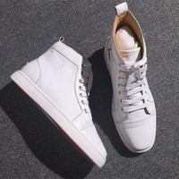DCCK Cl Christian Louboutin Leather Style #2152 Sneakers Fashion Shoes