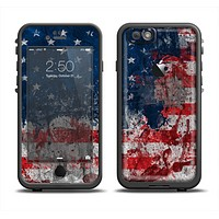 The Grungy American Flag Apple iPhone 6 LifeProof Fre Case Skin Set