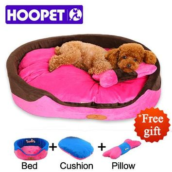 HOOPET Small Dog Bed House durable soft Pet sofa Puppy Cat Dog Mat Princess Style Yorkshire poodle pillow three pieces set #K