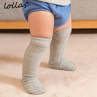 Lollas 0-4 Years Cute Baby Knee Socks born Infant Baby Cotton Knee High Socks Children Baby Girls Boys Socks