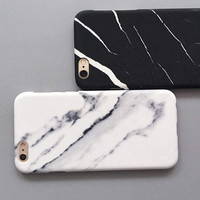 High-quality Fashion Marble Cover for iPhone 7 7Plus & iPhone 6 6s Plus & iPhone 5s se Case +Gift Box-D98