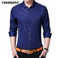 COODRONY Casual Shirts Long Sleeve Shirt Men Dress Brand Clothes Autumn New Arrivals Cotton Camisa Masculina Plus Size 8742