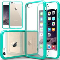 iPhone 6 Case, Caseology® [Fusion Series] Scratch-Resistant Clearback Cover [Turquoise Mint] [Dual Bumper] for Apple iPhone 6 (2014) & iPhone 6S (2015) - Turquoise Mint
