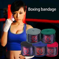 2PCS Sports Solid Color Boxing Gloves Strap