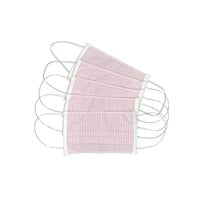 Pink Stripe Face Mask - Adult - Package of 5