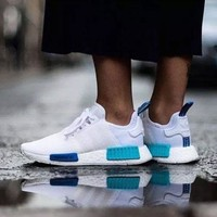 "Best Online Sale Adidas NMD R1 Blue Glow City Pack ""Sao Paulo"" S75235 Boost Sport Running Shoes Classic Casual Shoes Sneakers"