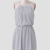 Boardwalk Resort Stripe Dress
