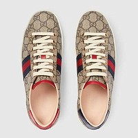GUCCI GG classic side striped low-top sneakers shoes