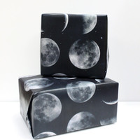 Moon Phrases Wrapping Paper Sheets