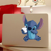 Hot Sell Stitch DIY Personality Vinyl Decal Stickers for Apple Macbook Pro / Air 13 inch Laptop Case Cover Cartoon Skin Sticker