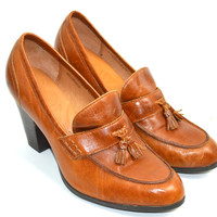 BORN Heels Loafers Sz 11 Leather Upper & Lined
