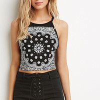 Paisley Print Strappy Halter