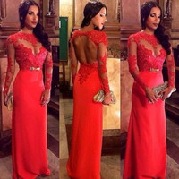Women's Fashion Red Butterfly Ball Gown One Piece Dress [9324558276]