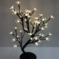 Luminarias LED crystal cherry blossom tree Lamp Night lights table lamp Christmas Fairy wedding decoration room indoor lighting