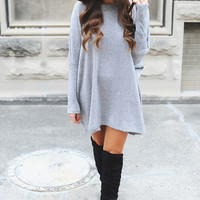 Grey Over-Sized Sweater