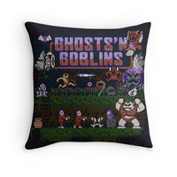 'Goblins n' Ghosts' Throw Pillow by likelikes