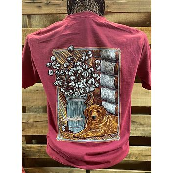 Southern Chics Apparel Cotton Bale Puppy Comfort Colors Girlie Bright T Shirt