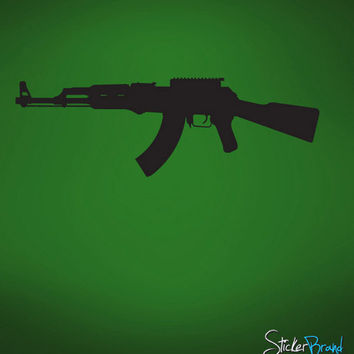 Vinyl Wall Decal Sticker AK47 Military Gun #759