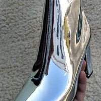 Mirror Shine Pointed Boots - 2 Colors