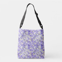 Lavender Swirling Marbled Pattern Crossbody Bag | Zazzle.co.uk