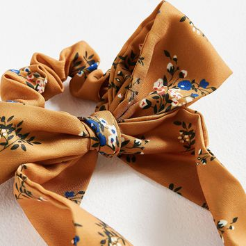Darling Draped Bow Scrunchie   Urban Outfitters