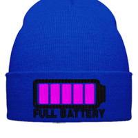 FULL BATTERY Embroidery - Beanie Cuffed Knit Cap