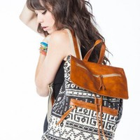Brandy ♥ Melville |  Tribal leather flap backpack - Bags - Accessories