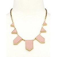 PU Geo Panel Necklace: Charlotte Russe