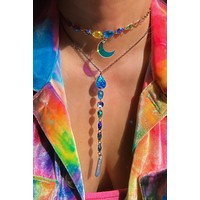 Jewel Drop Necklace in After the Rain