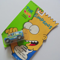 Vintage The Simpsons Hot Wheels Camper NIB 1990