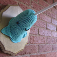 Large Blue Narwhal by Crochette on Etsy