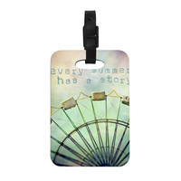 """Sylvia Cook """"Every Summer Has a Story"""" Decorative Luggage Tag"""