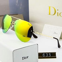 Dior Fashion Elegant Summer Sun Shades Eyeglasses Glasses Sunglasses(5-Color) Yellow I-A-SDYJ