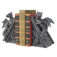 Gothic Castle Dragons Sculptural Bookends - CL55773