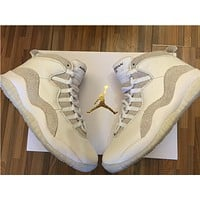Air Jordan 10 OVO white Basketball Shoes 40--47