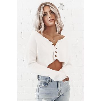 Already Over It Cropped Sweater Cardigan