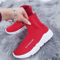 Red Balenciaga Classic Woman Men Fashion Breathable Sneakers Running Shoes